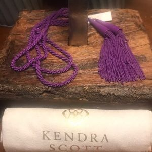 NWT Kendra Scott Matte Phara Necklace in Purple!